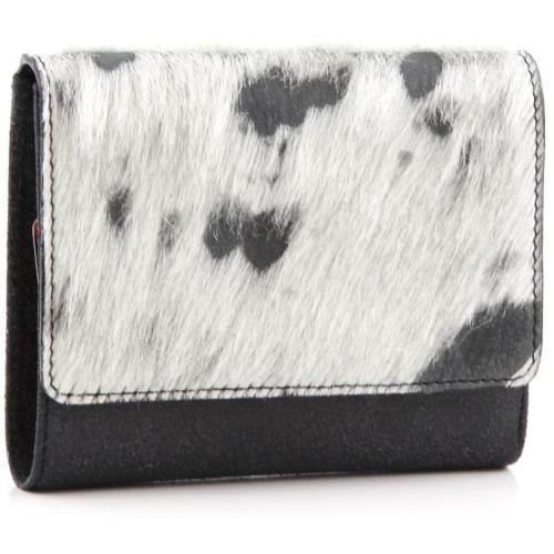 Die Kuh Elsa Geldbörse Leder grau 12,5 cm von Jost