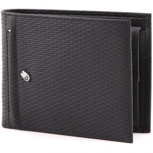 Alphaduck Geldbörse Herren Leder schwarz 12,5 cm von Mandarina Duck