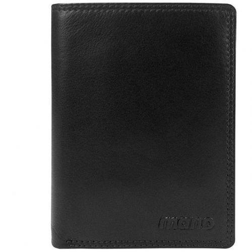 Oxford 12,5 cm Geldbörse schwarz mit einem Ausweisfach von mano