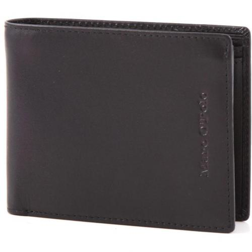 Gotland Geldbörse Leder schwarz 12 cm von Marc O'Polo