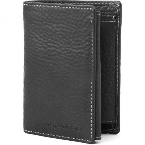 Kent Geldbörse Leder schwarz 12,5 cm von Marc O'Polo