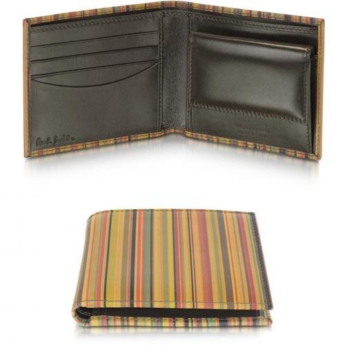 Portemonnaie aus Leder mit Streifenmuster von Paul Smith