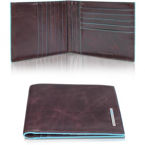 Blue Square Brieftasche aus echtem Leder von Piquadro