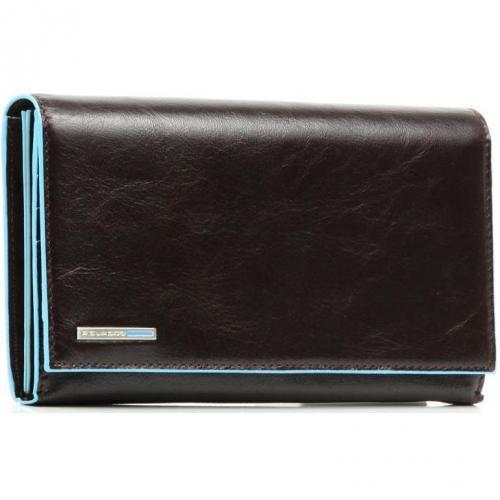 Blue Square Geldbörse Leder mahagoni 19 cm von Piquadro