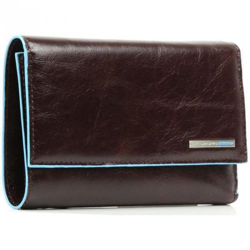 Blue Square Geldbörse Leder mahagoni 9,5 cm von Piquadro