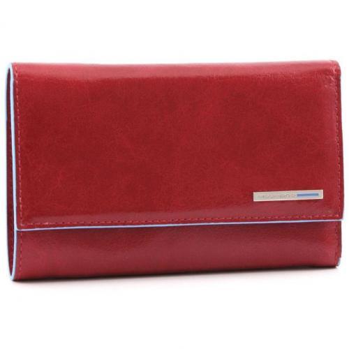 Blue Square Geldbörse Leder rot 15 cm von Piquadro