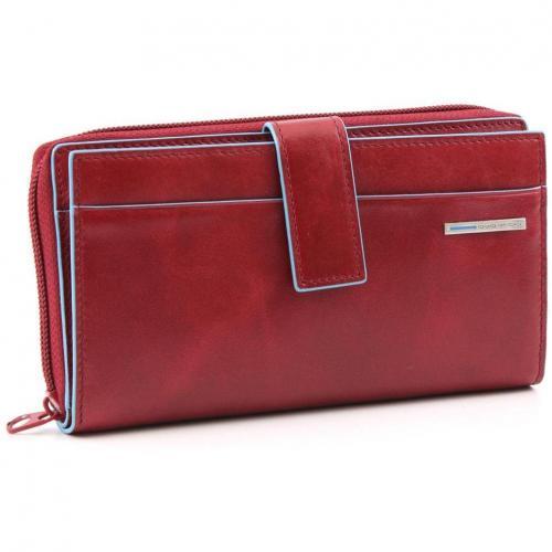 Blue Square Geldbörse Leder rot 17,5 cm von Piquadro