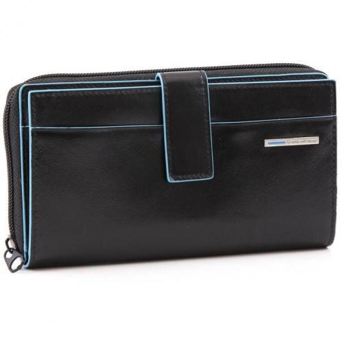 Blue Square Geldbörse Leder schwarz 17,5 cm von Piquadro