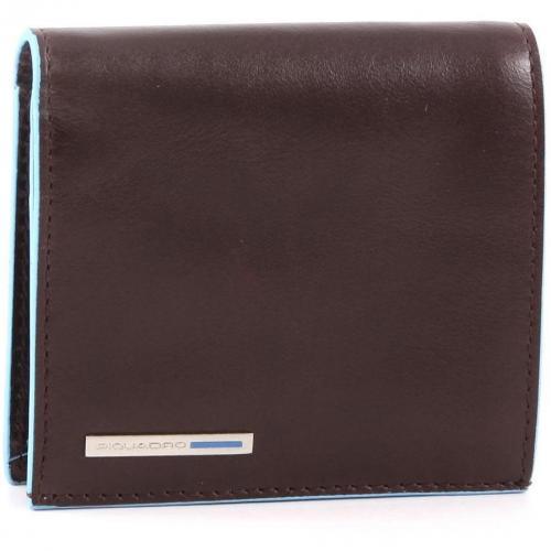 Blue Square Geldbörse Herren Leder mahagoni 10,5 cm von Piquadro
