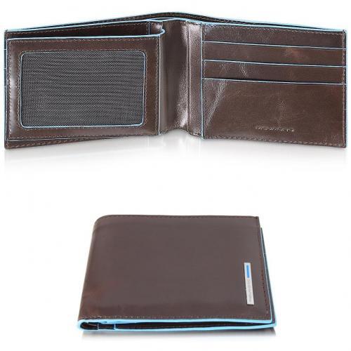 Blue Square Portemonnaie aus Leder von Piquadro