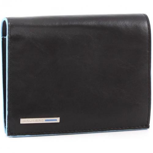 Blue Square Geldbörse Herren Leder schwarz 12,5 cm von Piquadro