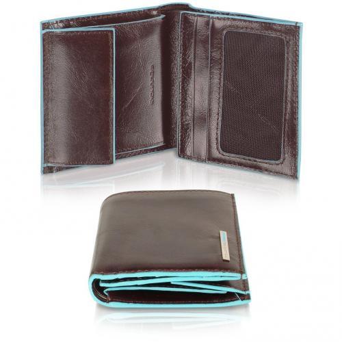 Herrenbrieftasche aus Leder mit ID Fenster von Piquadro