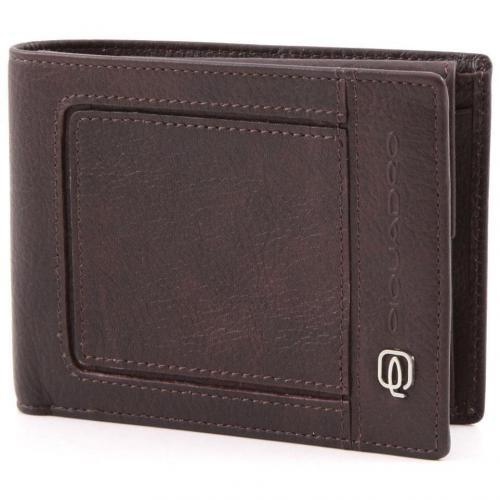Vibe Geldbörse Herren Leder dunkelbraun 15,5 cm von Piquadro