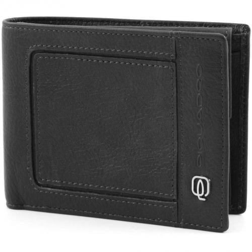 Vibe Geldbörse Herren Leder schwarz 15,5 cm von Piquadro