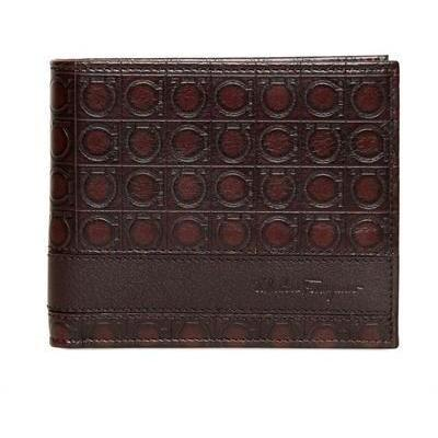Gamma Logo Druck klassische Lederbrieftasche von Salvatore Ferragamo