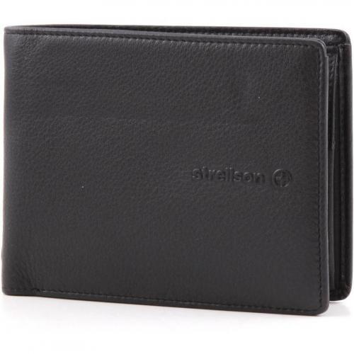 Neck Label Geldbörse Herren Leder schwarz 12 cm von Strellson