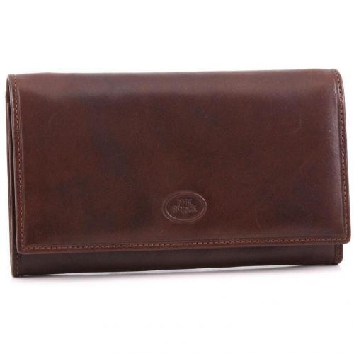 Geldbörse Leder braun 17 cm von The Bridge
