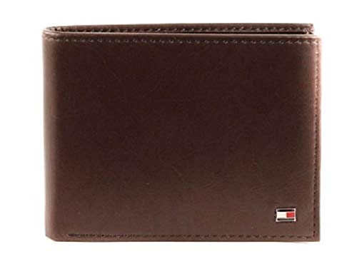 Tommy Hilfiger ETON CC FLAP AND COIN POCKET AM0AM00652 Herren Geldbörsen 13x10x2 cm (B x H x T), Braun (Brown 041)