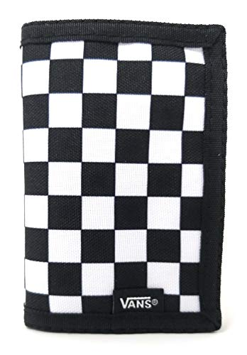 Vans Herren Slipped Travel Accessory-Tri-Fold Wallet Schwarz-Weiß Karo One Size
