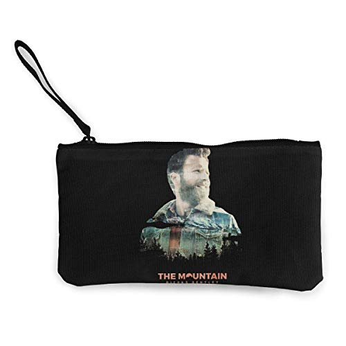 BHGYT Dierks Bentley The Mountain Multifunktionale Leinwand Geldbörse Wechselgeldbeutel Brieftasche Kleine Schminktasche mit Reißverschluss