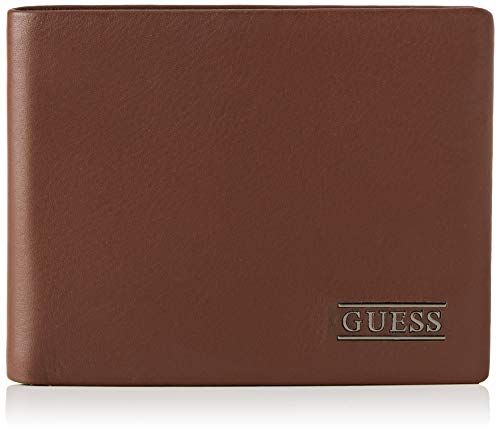 Guess Herren New Boston Geldbörse, Braun (Brown), 2.5x9.6x12.2 centimeters