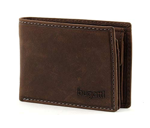 bugatti Hunter Coin Wallet with Flap 4CC Brown