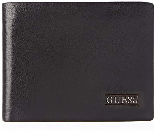 Guess Herren New Boston Geldbörse, Schwarz (Black), 2x9.8x12.4 centimeters