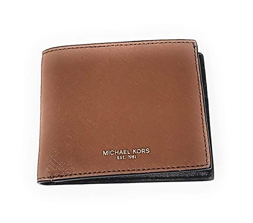 Michael Kors Mens Andy Bifold Leather Wallet (Luggage)