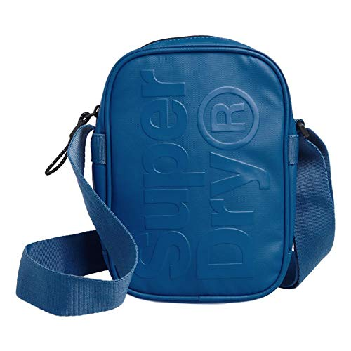 Superdry Herren Side Bag Geldbörse, Blau (True Blue), 15x6,5x21 cm
