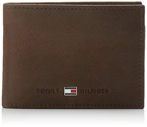 Tommy Hilfiger Herren JOHNSON MINI CC FLAP AND COIN POCKET Geldbörsen, Braun (Brown 041), 11x7x3 cm