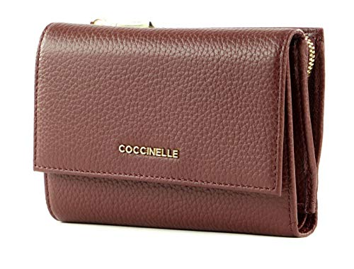 Coccinelle Metallic Soft Flap Wallet Marsala