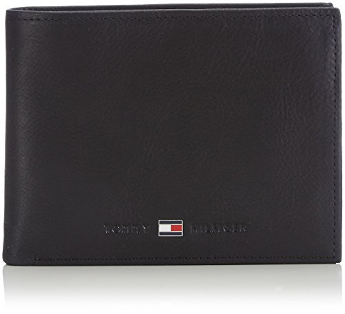 Tommy Hilfiger Herren JOHNSON CC AND COIN POCKET Mappe, Schwarz (Black 002), 14x10x2 cm (B x H x T)