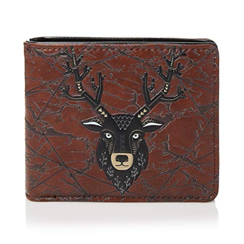 SHAGWEAR Mens Wallet, Coin Pocket, Card Slots - Elk Head
