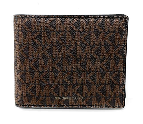 Michael Kors Cooper Signature PVC Billfold with Case in Brown/Black (No Box)