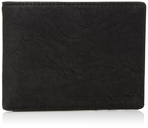 DC Shoes Men's Big Message Bifold Wallet Black