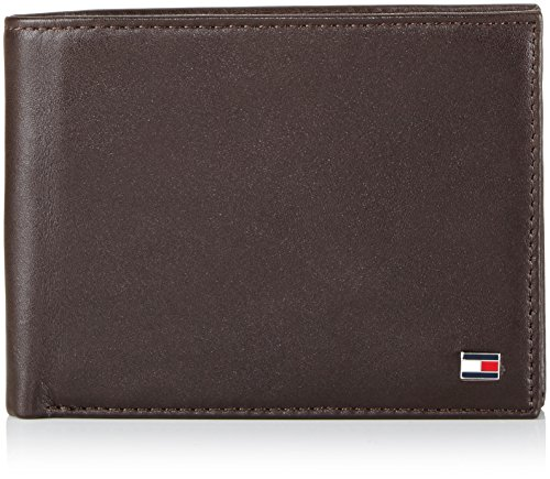 Tommy Hilfiger Herren ETON CC AND COIN POCKET Geldbörsen, Braun (BROWN 204), 13x10x2 cm