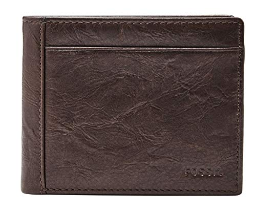 Fossil Mens Neel Travel Accessory- Bi-Fold Wallet, Brown, 11.43 cm L x 2.54 cm W x 9.53 cm H