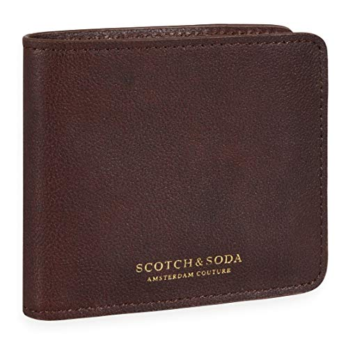 Scotch & Soda Classic Leather Billfold Wallet Brown