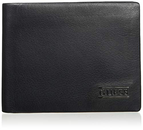 Guess Herren New Boston Billfold W/Coin Pkt Geldbeutel, Schwarz (Black), 2.5x9.6x12.2 Centimeters