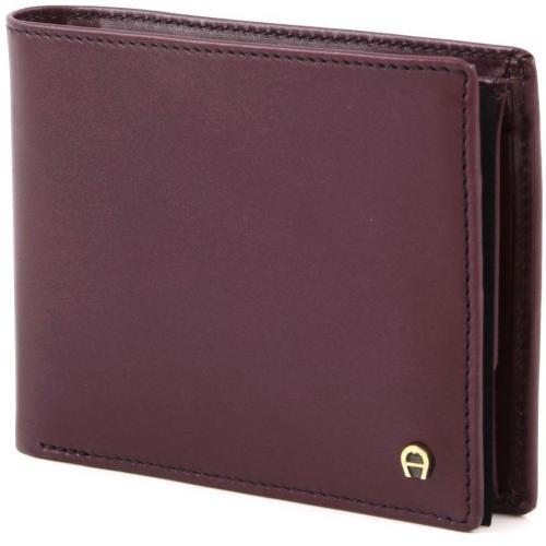 Aigner Basics Geldbörse Leder dunkelrot 12 cm