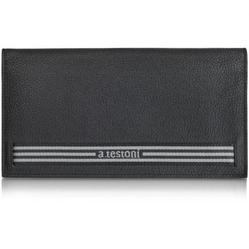 A.Testoni Organizer für die Reise mit herausnehmbarer Mini-Brieftasche