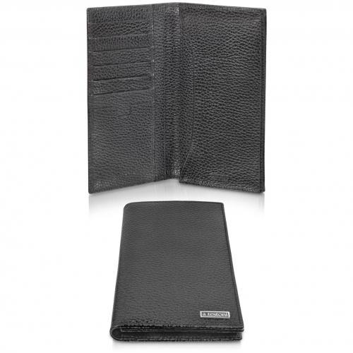 A.Testoni Portemonnaie aus Kalbsleder in glänzend