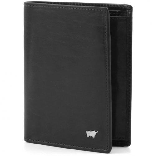 Braun Büffel Basic Geldbörse Leder schwarz 12 cm