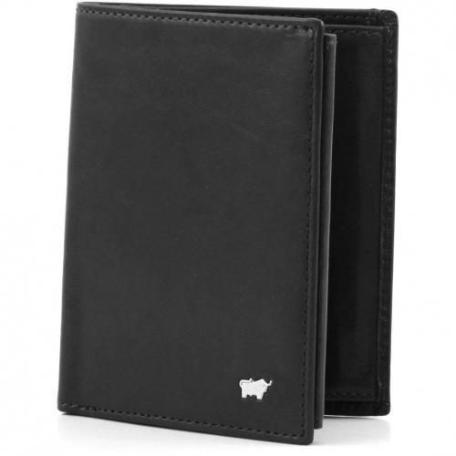 Braun Büffel Basic Geldbörse Leder schwarz 12,5 cm