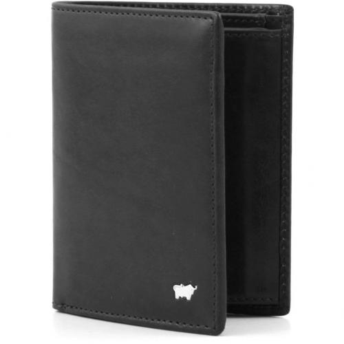 Braun Büffel Basic Geldbörse Leder schwarz 13 cm