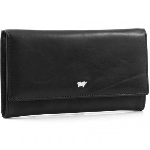 Braun Büffel Basic Geldbörse Leder schwarz 17 cm