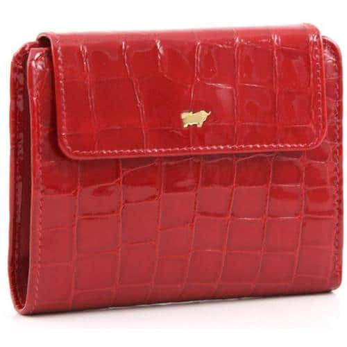Braun Büffel Glanzkroko Geldbörse rot 12,5 cm