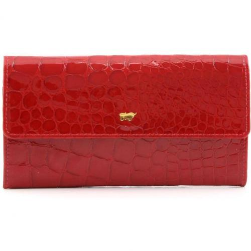 Braun Büffel Glanzkroko Geldbörse rot 17,5 cm