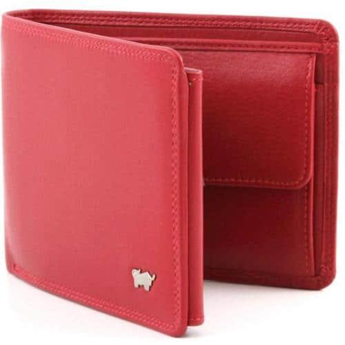 Braun Büffel Golf Geldbörse Leder rot 12 cm