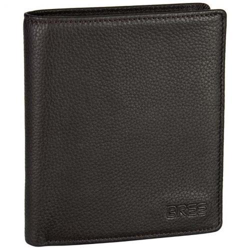 Bree Pocket 113 Geldbörse dark brown grained
